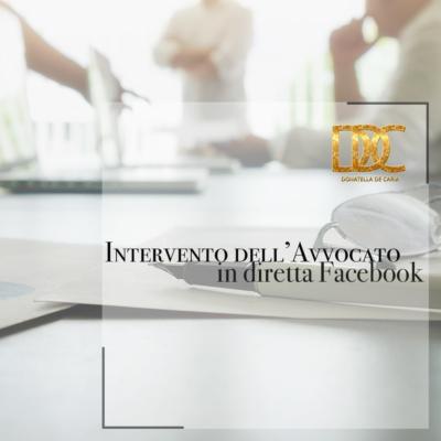 Diretta Facebook organizzata dall'Avv. Andrea Bonuomo e dall'Avv. Pietro Di Tosto sul tema del Diritto di Famiglia durante la FASE2